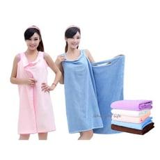 可穿式自在活動浴巾 超吸水百變魔術浴巾 浴衣 浴袍
