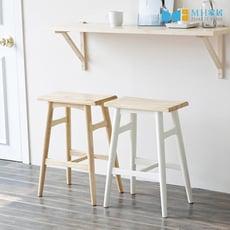 MH家居 韓國 倫敦原木吧台椅(免組裝)