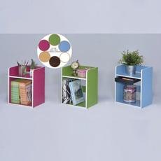 【ONE 生活】桌上超強分層收納架(藍/桃紅/蘋果綠/白/胡/白/木)