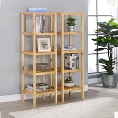 [ONE生活]原木置物架 寬35+60cm 四層置物架 - 小尺寸+大尺寸書架