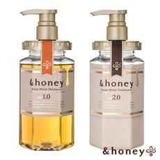 【日本&honey】蜂蜜亮澤修護洗髮乳1.0+護髮乳2.0