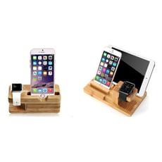 適用蘋果手錶apple watch手機充電底座iphone支架竹子iPad木支架