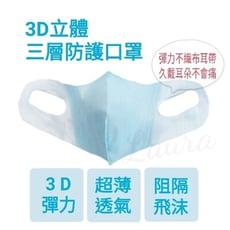 【口罩】兒童/成人小臉/3D立體/ 非醫療型口罩 耳掛式( 超薄) 三層防護 彩色口罩