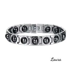 -Laura- 316L白鋼 磁石 健康能量手鍊 (F款) 財源滾滾