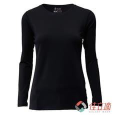3M-佳立適-升溫蓄熱保暖衣-女圓領-黑色