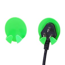 黏貼式電源線插頭掛鉤/插頭支架收納(2入組) 不挑色 掛勾/插頭掛勾/插頭支架