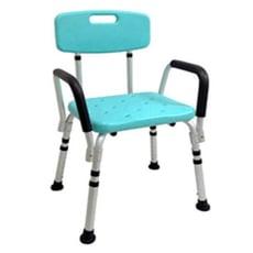 來而康 ER-5004 有扶手有靠背洗澡椅 居家輔具 鋁合金兩側可拆懈扶手防滑洗澡坐椅