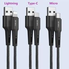 【WiWU】Gear齒輪數據線(Lightning   Type-C     Micro)-1.2m