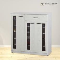 【米朵Miduo】3.5尺塑鋼三門一抽鞋櫃 壓克力門片