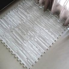 台灣製造  嬰兒爬行墊 灰色拼花木紋巧拼地墊/安全地墊(9片裝)【CP063】巧拼 安全地墊