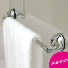 FECA非卡 無痕強力吸盤 不鏽鋼毛巾架(銀)