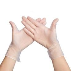 一次性 防疫 pvc手套 100PCS 食品級透明塑料 塑膠乳膠 無毒環保手套【3737201】