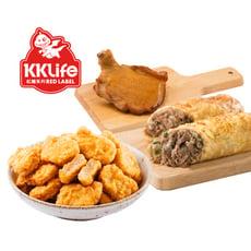 松果獨家【KKLife-紅龍】明星料理組(雞塊/肉捲/雞腿排) 在家也能享受美食!