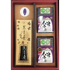 「旨米園」嚴選伴手禮盒F:花蓮野生有機紫米&黑豆桑醬油