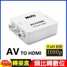 AV訊號轉HDMI轉接盒-1080P版