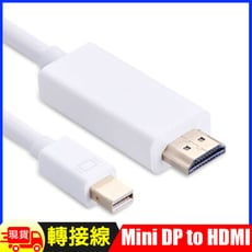 Mini Display Port 轉HDMI轉接線(白色-1.8M)