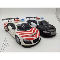 遙控車 玩具車 警察 110 遙控警車 會閃光