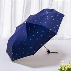 [shop200]抗UV自動開收折傘 海軍風自動傘 雨傘  晴雨兩用 自動開合 防風 防潑水