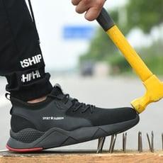 【免運】防砸防刺透氣 安全鞋 En1等級 安全鞋 工作鞋 防刺穿鋼板 鋼頭鞋 運動鞋【CA075】
