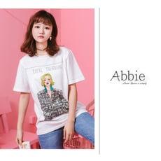 【Abbie】韓款個性印花寬鬆短袖潮T