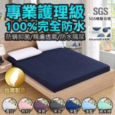 【SGS檢驗合格100%防水!MIT專業級保潔墊】單/雙人款3M專利防水保潔墊 床包式保潔墊防螨尿墊