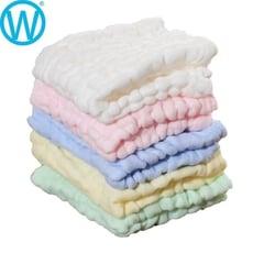 五條入 超柔軟六層紗方巾【SGS檢驗合格】紗布巾 三角巾 口水巾 方巾【WanWorld】