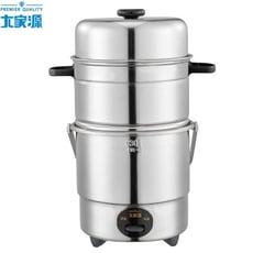 大家源三人份全不鏽鋼雙層蒸煮電鍋TCY-3207