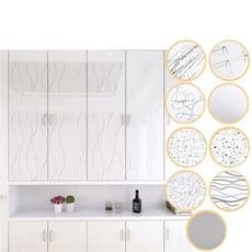 鋼琴烤漆亮面防水防油自黏廚櫃傢俱翻新貼
