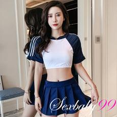 【Sexbaby99】青春無敵-性感短版兩件式學生角色服