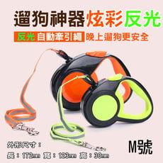 反光自動牽引繩 M號 寵物伸縮牽引繩