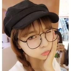 韓國文藝亞麻布八角帽子 男女夏季貝雷帽復古光身畫家帽報童帽子