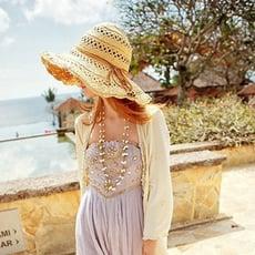新款大簷草帽遮陽防曬沙灘帽鏤空百搭可折疊太陽帽子