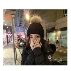 帽子女冬季韓版百搭學生毛球毛線帽潮冬天韓國時尚針織帽加厚保暖
