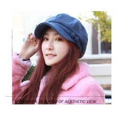 韓版秋冬季時尚八角帽畫家帽鴨舌貝雷帽冬帽媽媽帽