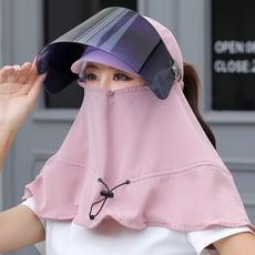 新款日韓防曬遮陽披肩護頸遮陽帽不反光