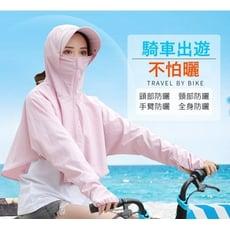 女夏韓版大沿防紫外線防曬帽子披肩防曬披件外套