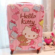 S.M號 hello kitty彈力布旅行箱防塵/保護套收納袋登機箱套 旅行箱套 行李箱套
