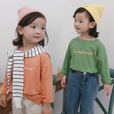 【特樂生活Joyful life】兒童童裝百搭字母舒適棉質長袖上衣(100-140)