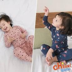 【chiao!Babe 俏寶貝】睡衣套裝卡通圖案磨毛上衣+長褲(100-120)