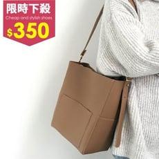 托特包-質感簡約風挺版拉鍊大容量手提拉鍊肩背包 側背包 托特包【AN SHOP】