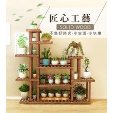 園藝造景碳化防腐木多層落地花架