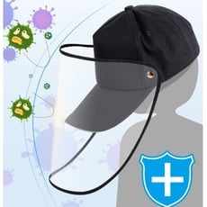 【DA315】防飛沫棒球帽 護目防護帽 可拆式防疫帽 鴨舌帽 遮臉面罩 棒球帽子 遮陽帽