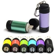 【GD291】USB充電手電筒+鑰匙扣 迷你手電筒LED手電筒 強光防水 露營登山緊急照明 鎖匙扣