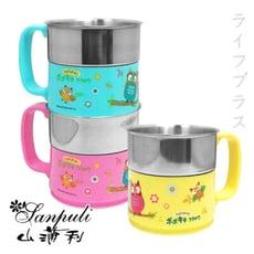 【一品川流】PoPoKiKi不銹鋼馬克杯-250ml-3入組