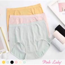【PINK LADY】蠶絲褲底莫代爾無縫內褲 柔軟包覆 提臀中高腰內褲503 (4入起)