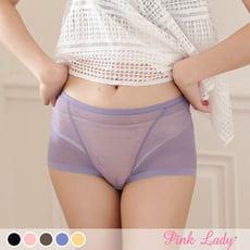 【PINK LADY】台灣製 網紗蕾絲平口內褲6678 (4入起)