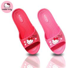 三麗鷗正版授權加寬 HELLO KITTY 超輕防滑乾溼二用室內拖鞋
