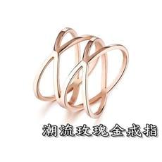 《316小舖》c365(優質精鋼戒指-潮流玫瑰金戒指-單件價 /精美禮物/女流行飾品/送禮首選/時尚