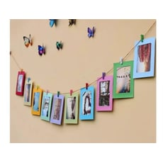 《懸掛式 彩色10紙相框組》復古文青網紅