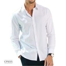 CPMAX 立領白襯衫 商務休閒襯衫  立領襯衫  白襯衫 B42